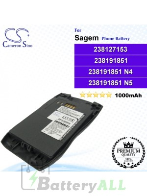 CS-MC928SL For Sagem Phone Battery Model 238127153 / 238191851 / 238191851 N4 / 238191851 N5