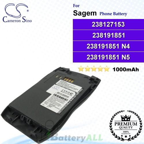 CS-MC928SL For Sagem Phone Battery Model 238127153 / 238191851 / 238191851 N4 / 238191851 N5