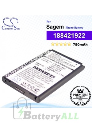 CS-MYV5SL For Sagem Phone Battery Model 188421922 / 188620695 / SAKN-SN3