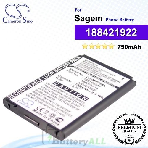 CS-MYV5SL For Sagem Phone Battery Model 188421922 / 188620695 / SAKN-SN3