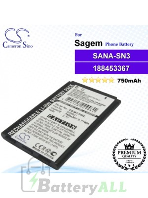 CS-MYX4SL For Sagem Phone Battery Model SANA-SN3 / 188453367