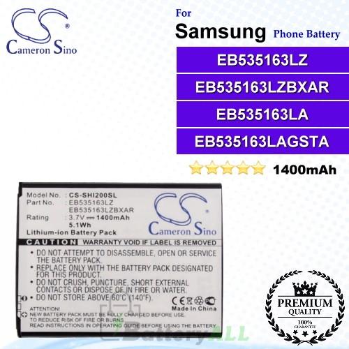 CS-SHI200SL For Samsung Phone Battery Model EB535163LZ / EB535163LZBXAR
