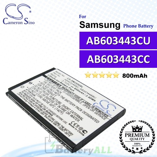 CS-SM5230SL For Samsung Phone Battery Model AB603443CU / AB603443CC