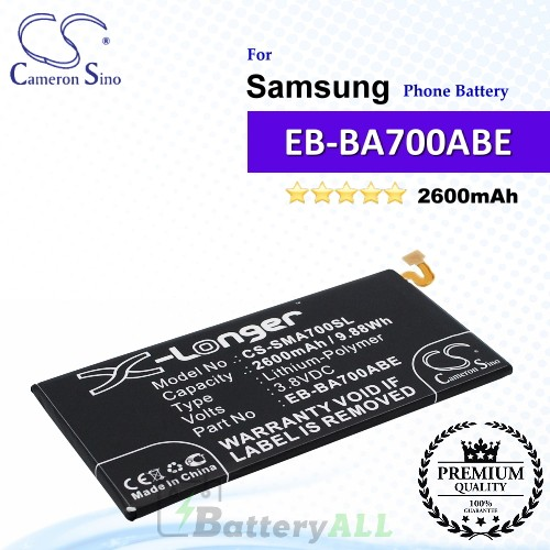 CS-SMA700SL For Samsung Phone Battery Model EB-BA700ABE / GH43-04340A