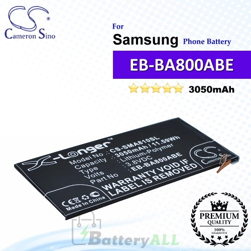 CS-SMA810SL For Samsung Phone Battery Model EB-BA800ABE