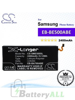 CS-SME500SL For Samsung Phone Battery Model EB-BE500ABA / EB-BE500ABE
