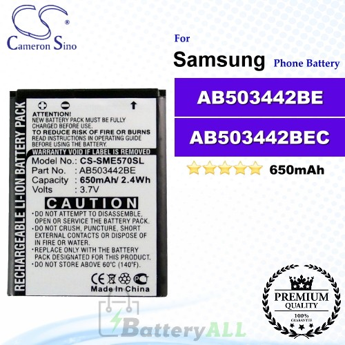 CS-SME570SL For Samsung Phone Battery Model AB503442BE / AB503442BEC