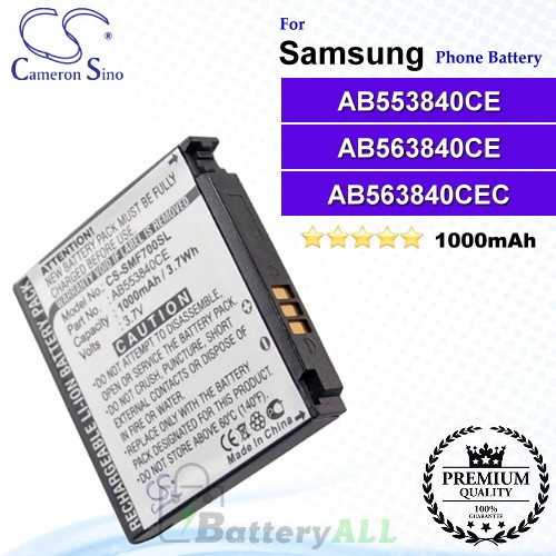 CS-SMF700SL For Samsung Phone Battery Model AB553840CE / AB563840CE