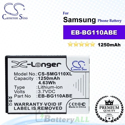 CS-SMG110XL For Samsung Phone Battery Model EB-BG110ABE