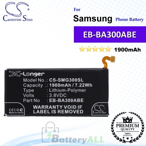 CS-SMG300SL For Samsung Phone Battery Model EB-BA300ABE / GH43-04381A / GH43-04381B