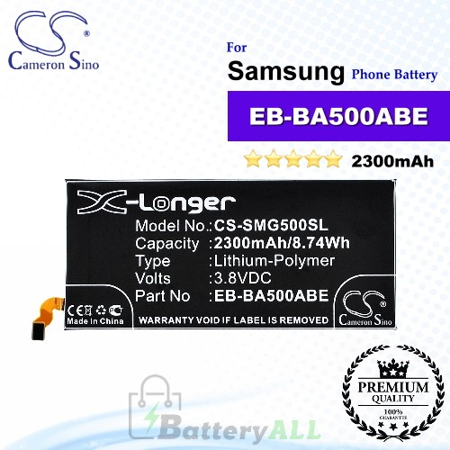 CS-SMG500SL For Samsung Phone Battery Model EB-BA500ABE / GH43-04337A