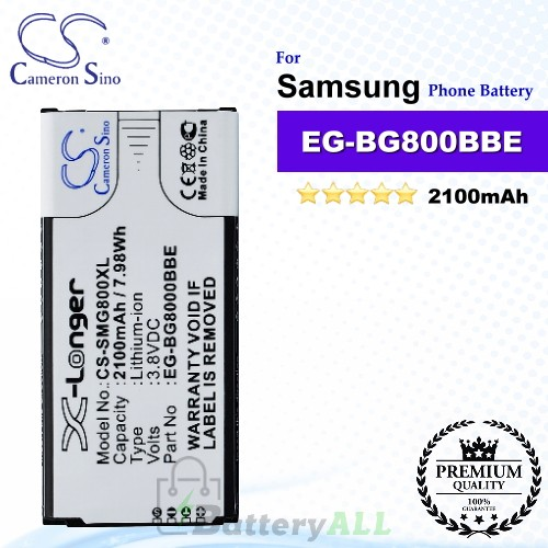 CS-SMG800XL For Samsung Phone Battery Model EB-BG800BBE / EG-BG800BBE