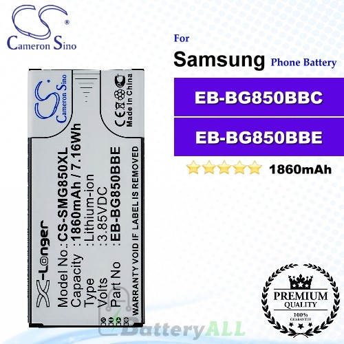CS-SMG850XL For Samsung Phone Battery Model EB-BG850BBE / EB-BG850BBC
