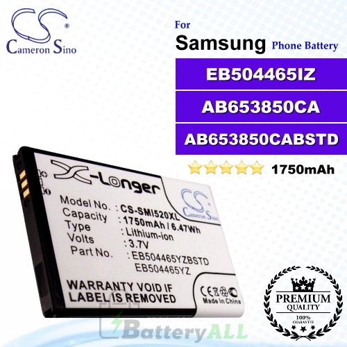 CS-SMI520XL For Samsung Phone Battery Model EB504465YZ / EB504465IZ / EB504465YZBSTD