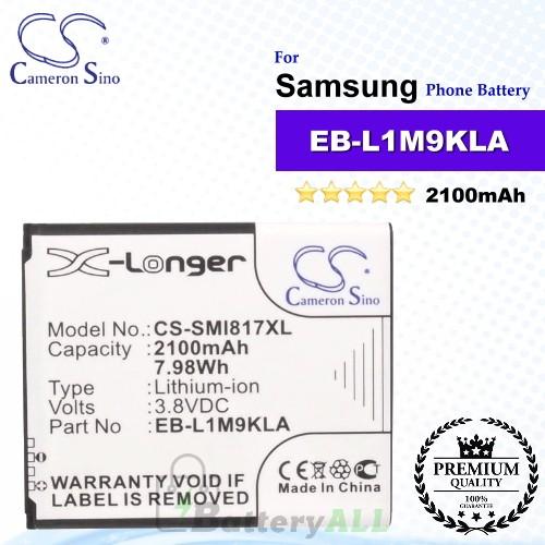 CS-SMI817XL For Samsung Phone Battery Model EB-L1M9KLA