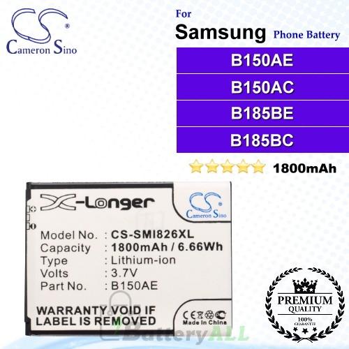 CS-SMI826XL For Samsung Phone Battery Model B150AC / B150AE / B185BC / B185BE / GH43-03849A