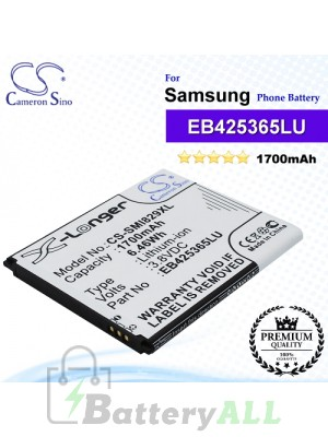 CS-SMI829XL For Samsung Phone Battery Model EB425365LU