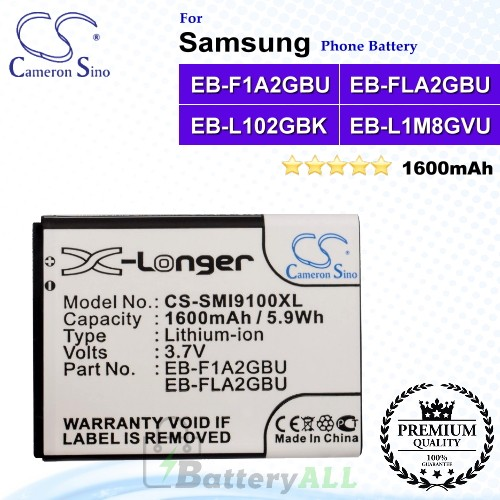 CS-SMI9100XL For Samsung Phone Battery Model EB-L102GBK / EB-L1A2GBU / EB-L1M8GVU / GH43-03539A
