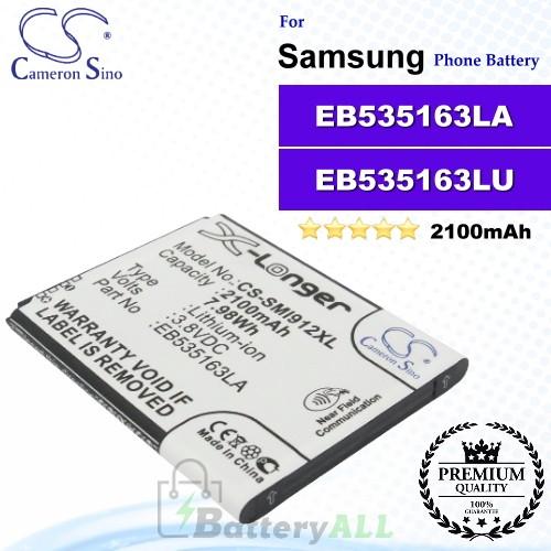 CS-SMI912XL For Samsung Phone Battery Model EB535163LU / EB535163LA