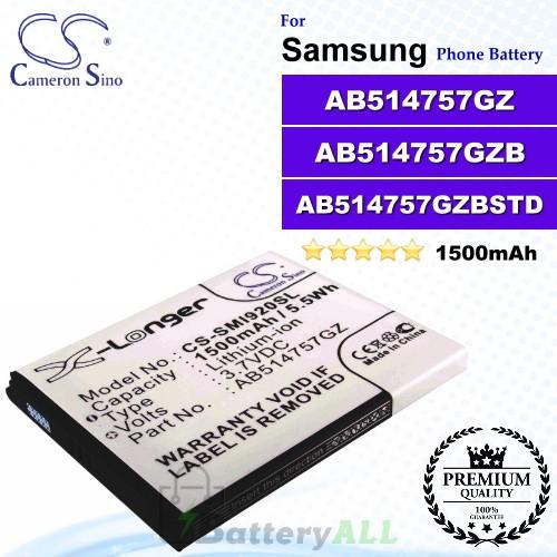 CS-SMI920SL For Samsung Phone Battery Model AB514757GZ / AB514757GZB / AB514757GZBSTD
