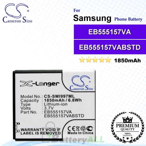 CS-SMI997ML For Samsung Phone Battery Model EB555157VA / EB555157VABSTD