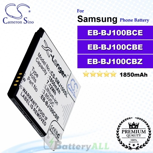 CS-SMJ100SL For Samsung Phone Battery Model EB-BJ100BBE / EB-BJ100BCE / EB-BJ100CBE / EB-BJ100CBZ / GH43-04412A