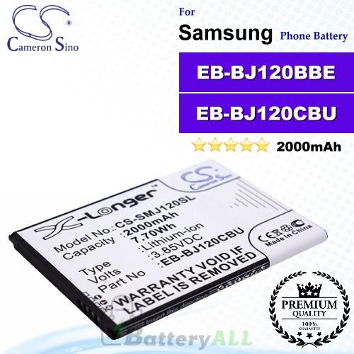 CS-SMJ120SL For Samsung Phone Battery Model EB-BJ120BBE / EB-BJ120CBEGWW / EB-BJ120CBU / GH43-04560A