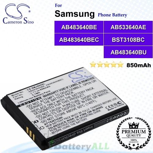 CS-SMJ600SL For Samsung Phone Battery Model AB483640BE / AB483640BEC / AB533640AE / BST3108BC / AB483640BU