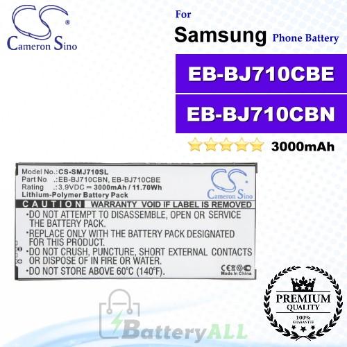 CS-SMJ710SL For Samsung Phone Battery Model EB-BJ710CBA / EB-BJ710CBC / EB-BJ710CBE / EB-BJ710CBN / GH43-04599A