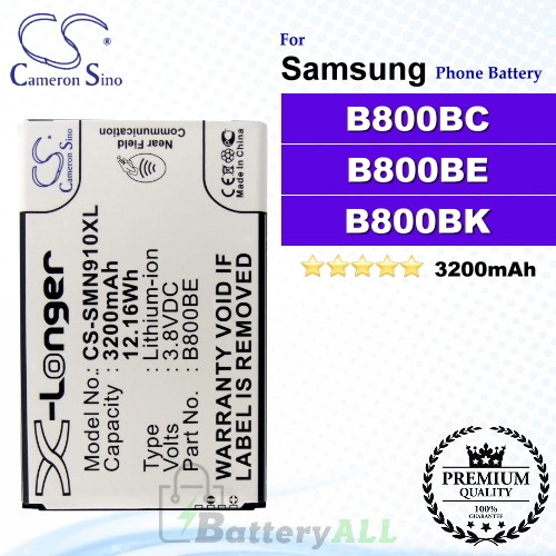 CS-SMN910XL For Samsung Phone Battery Model B800BC / B800BE / B800BK / B800BU