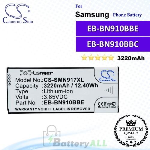 CS-SMN917XL For Samsung Phone Battery Model EB-BN910BBE / EB-BN910BBK / EB-BN910BBU