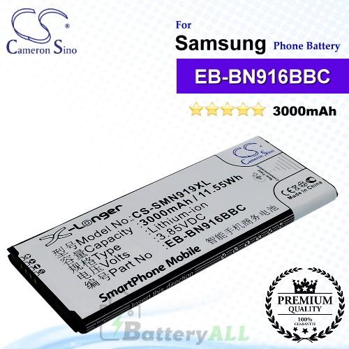 CS-SMN919XL For Samsung Phone Battery Model EB-BN916BBC