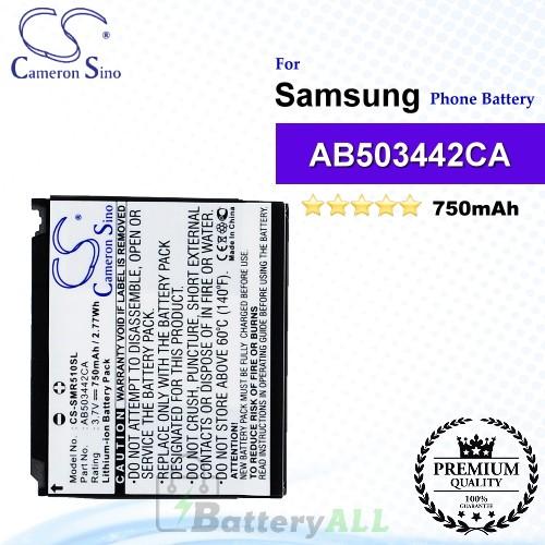 CS-SMR510SL For Samsung Phone Battery Model AB503442BABSTD / AB503442CA