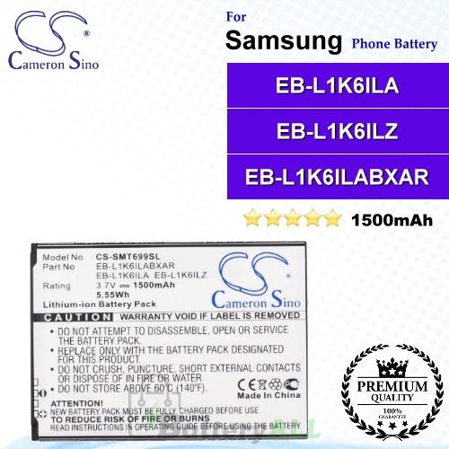 CS-SMT699SL For Samsung Phone Battery Model EB-L1K6ILA / EB-L1K6ILZ / EB-L1K6ILABXAR