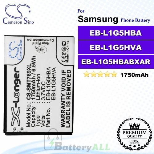 CS-SMT769XL For Samsung Phone Battery Model EB-L1G5HBA / EB-L1G5HBABXAR / EB-L1G5HVA
