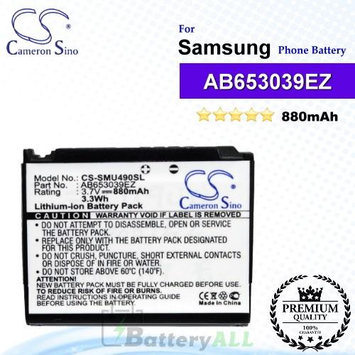 CS-SMU490SL For Samsung Phone Battery Model AB653039EZ / AB653039EZBSTD