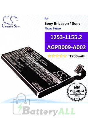 CS-EMT270SL For Sony Ericsson / Sony Phone Battery Model 1253-1155.2 / AGPB009-A002