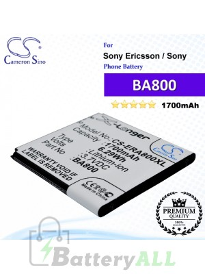 CS-ERA800XL For Sony Ericsson / Sony Phone Battery Model BA800