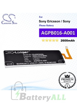 CS-ERE563SL For Sony Ericsson / Sony Phone Battery Model AGPB016-A001