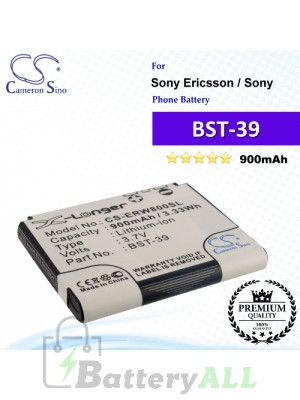 CS-ERW800SL For Sony Ericsson Phone Battery Model BST-39