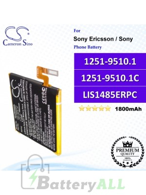 CS-ERX280SL For Sony Ericsson / Sony Phone Battery Model 1251-9510.1 / 1251-9510.1C / LIS1485ERPC / LIS1489ERPC