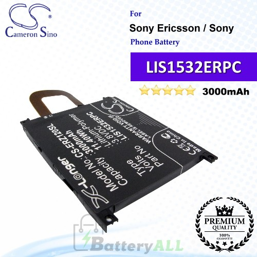 CS-ERZ120SL For Sony Ericsson / Sony Phone Battery Model LIS1532ERPC