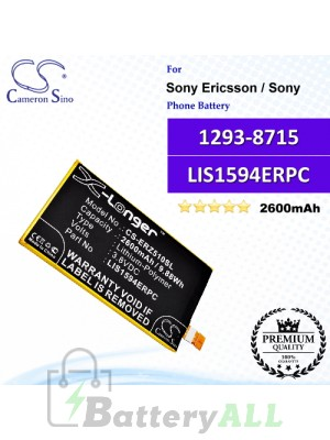 CS-ERZ510SL For Sony Ericsson / Sony Phone Battery Model 1293-8715 / LIS1594ERPC