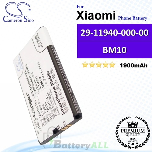 CS-MUM001XL For Xiaomi Phone Battery Model 29-11940-000-00 / BM10