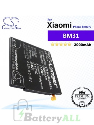 CS-MUM003SL For Xiaomi Phone Battery Model BM31