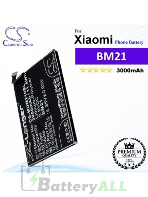 CS-MUM210SL For Xiaomi Phone Battery Model BM21