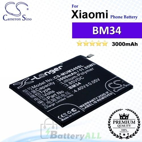 CS-MUM340SL For Xiaomi Phone Battery Model BM34