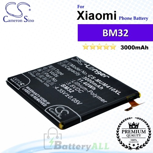 CS-MUM410XL For Xiaomi Phone Battery Model BM32