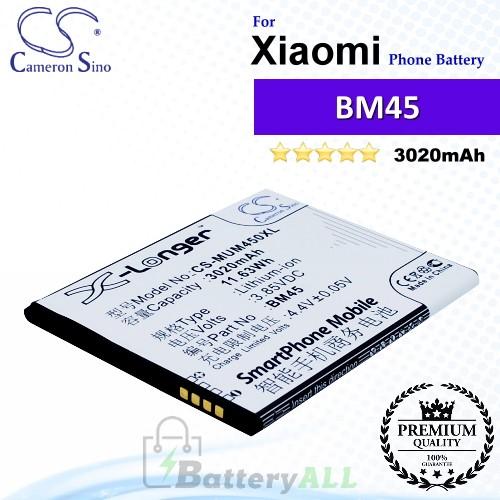 CS-MUM450XL For Xiaomi Phone Battery Model BM45