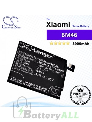 CS-MUM460XL For Xiaomi Phone Battery Model BM46